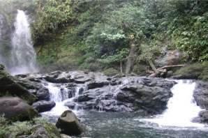 waterfall at Rara Avis