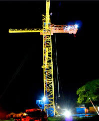 night bungee jumping